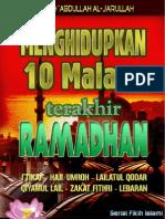 Menghidupkan 10 Malam Terakhir Ramadhan