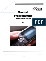Manual Programming Reference Guide TX