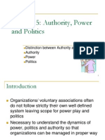 Chapter 5 Authority, Power and Politics