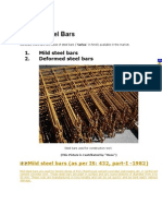 Types of Steel Bars