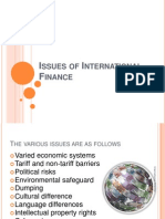 Issues of International Finance Anusha