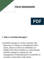 Sebi..Portfolio Managers