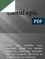 Prezentare Power Point Genul Epic