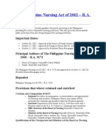 The Philippine Nursing Act of 2002