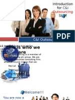 C&I Outsourcing Induction Reel