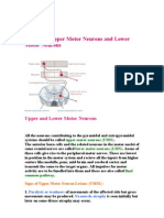 Lesions of Upper Motor Neurons and Lower Motor Neurons