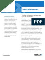 Automate AP Process KOFAX