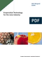 Evaporation Technology Juice Industry GEA Wiegand En