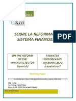 BASES REFORMA SISTEMAFINANCIERO - ON THE REFORM OF THE FINANCIAL SECTOR (Spanish) - FINANTZA SEKTOREAREN ERABERRITZEAZ (Espainieraz)