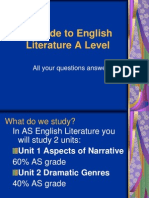 A Guide to English Literature a Level