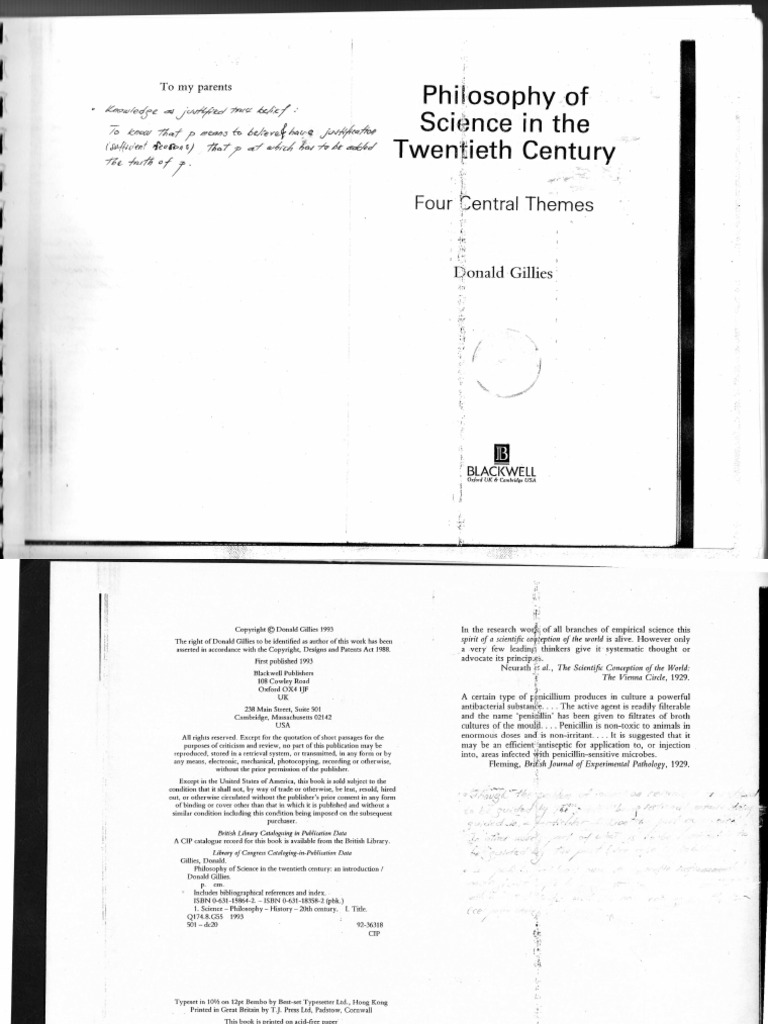 Gillies d philosophy of science in the twentieth century an gillies d philosophy of science in the twentieth century an introduction1993224 logic axiom fandeluxe Image collections