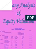 3.Company Analysis and Equity Valuation