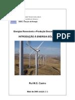 Introdução à Energia Eólica - Rui Castro