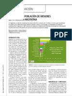 CANCER EN LA POBLACION DE MENORES DE 15 AÑOS EN ARGENTINA