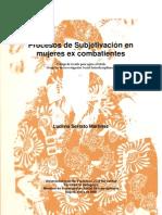 Historias de Mujeres Excombatientes de Grupos Guerrilleros_2009