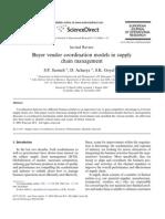 Buyer Vendor Coordination Models in SCM