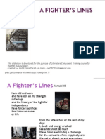 A Fighter's Lines (Poem)