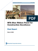 MTA Blue Ribbon Panel Construction Excellence