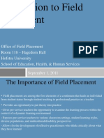 Orientation to Field Placement