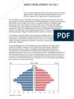 Sustainable Development in Italy