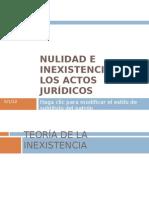 NULIDAD E INEXISTENCIA DE LOS ACTOS JURÍDICOS
