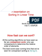 Linear Sortinng