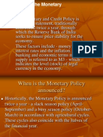 RBI's Monetary Policy--Final Version