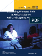 Expanding Women's Role in Africa's Modern off-Grid Lighting Market