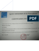 Certification Franc Op Hone