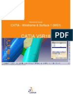 CATIA - Wirefram & Surface 1 (WS1)