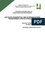 AVALIAÇÃO DIAGNÓSTICA   UMA ALTERNATIVA PARA TRANSFORMAR A PRÁTICA PEDAGÓGICA [Salvo automaticamente]