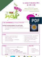 Programme Portes Ouvertes MEUP 3 décembre