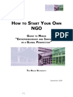 How to Start Your Own NGO