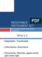 Negotiabnle Instrument Act