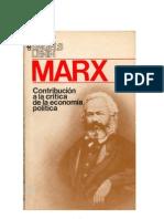 Marx, Carlos - Contribucion a La Critica de La Economia Politica -Completa-175pag