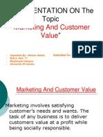 Marketing and Customer Value