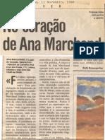 Ana Marchand.  O Lugar do Coração.  Independente 11 Nov. 1988