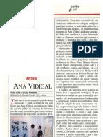 Ana Vidigal. . Tudo isto e o ceu também. Galeria 111. Por. Visao, 27 .06. 1996