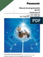 Manual de Programacion Del PC Central Pura Ip Panasonic KX-TDE100 KX-TDE200 KX-TDE600