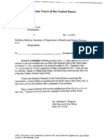 20111114 Supreme Court Docketing Notice