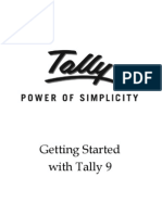 Getting Started With Tally 9