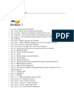 General Windows 7 Shortcuts