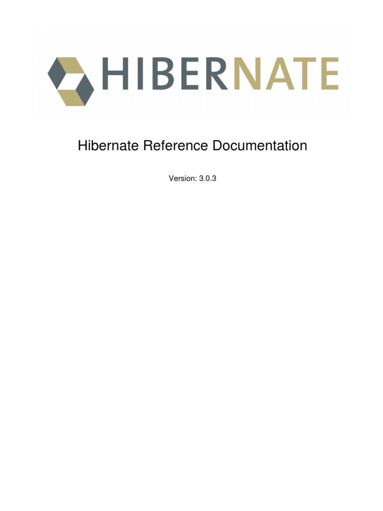 Hibernate Reference | Data Management Software | Information Technology