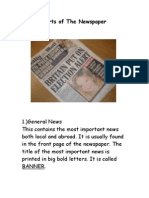 Parts of the Newspaper