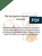 Plan de Lucru Bronsita Cronica Acutizata
