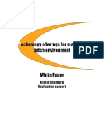 Technology Offerings for Mainframe Batch Environment
