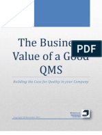 The Business Value of a Good QMS