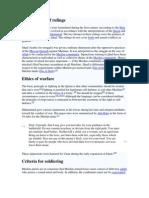 Rules of Islamic War