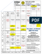 Fall Schedule - Golds Gym Langley