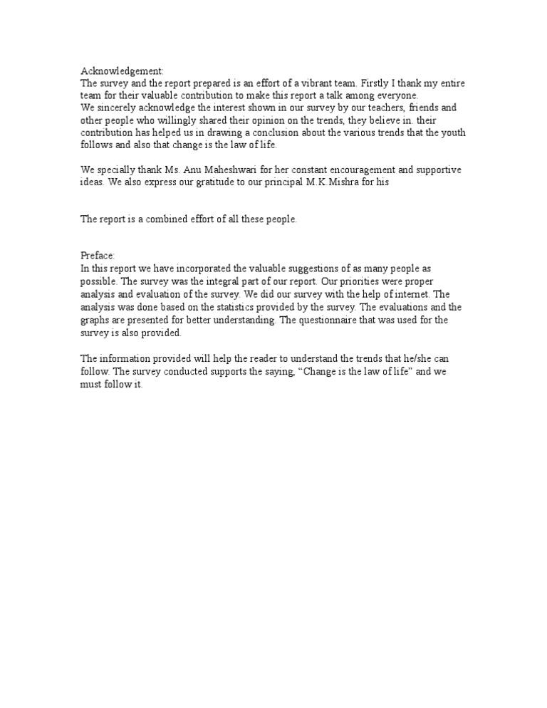 Acknowledgement Banks – Acknowledgement Report Sample